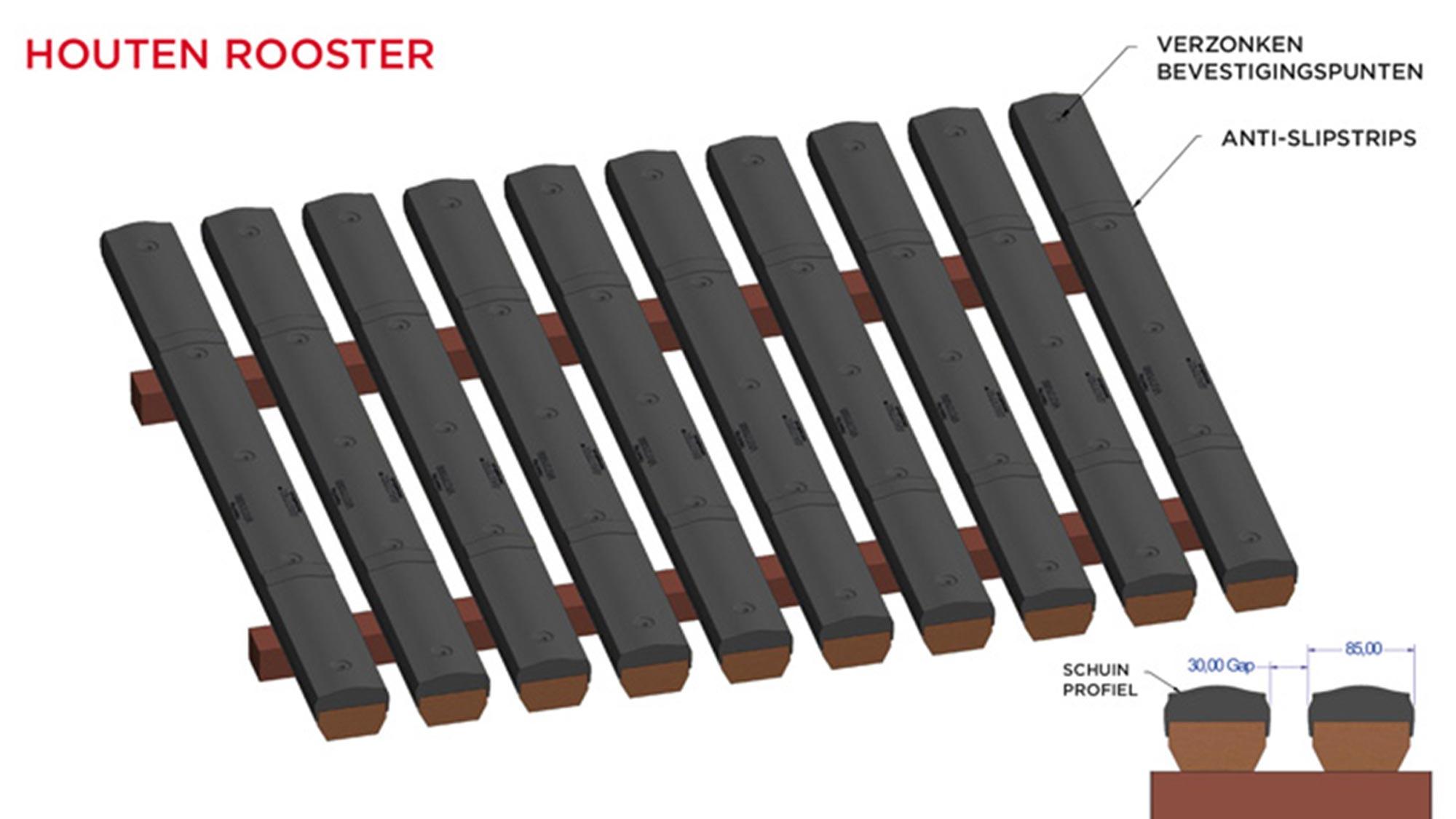 Animatiefoto welzijnsvloer kalveren roostervloer rubber VR77